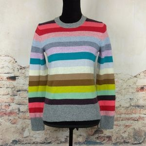NWT Gap XS Holiday Crazy Stripe Wool Sweater