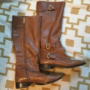 Gorgeous brown Michael Kors leather boots