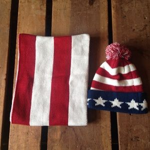 d1fb703316e Urban Outfitters Accessories - Angela William USA Infinity Scarf Beanie Set