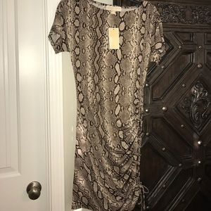 Snakeskin print dress New with tags XS