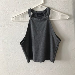Grey crop top in size S from Zara!
