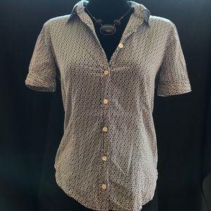 J Crew light cotton shirt, Sz. 6, blue/white
