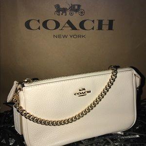 Coach Large Pebbled Leather Wristlet