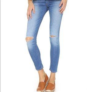 Rag & Bone/JEAN Mid Rise Slim Capri Jeans 👖