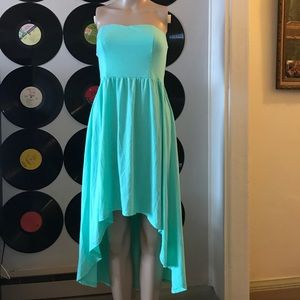 Xhilaration aqua high low dress 👗