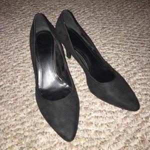 H&M black short heels