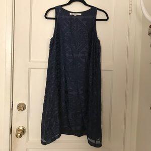 Max Studio Midnight Blue Velveteen Cocktail Dress