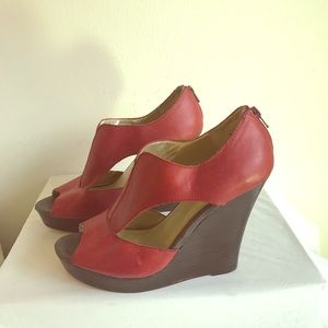 Super cute Red wedges. Size 10.