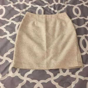 Beige pencil skirt with gold flecks