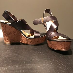 Size 7 strap wedges
