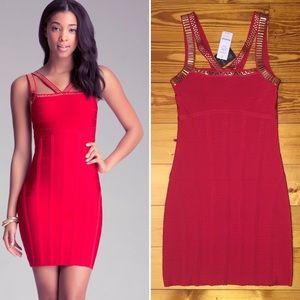 Bebe bandage red dress NWT