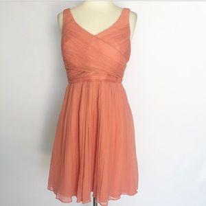 J. Crew 100% Silk Coral Dress