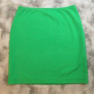 American Apparel Green Body Con Mini Skirt