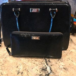 Kate spade mulberry black with wallet