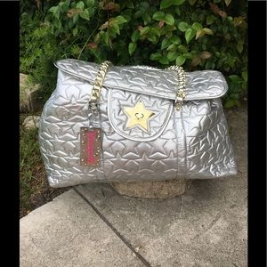 Betseyville Silver & Gold Star Quilted Tote Bag