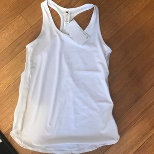 Fabletics White Work Out Top