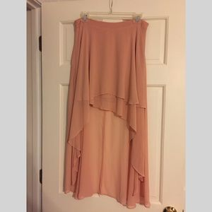 Blush Hi-Lo Skirt