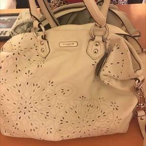 White coach bag
