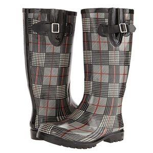 Nomad Footwear Puddles Plaid Rain Boots