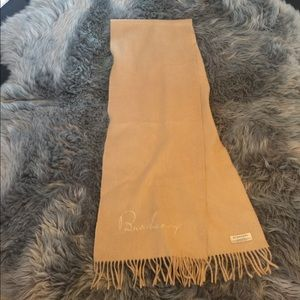 Burberry 100% cashmere camel color scarf