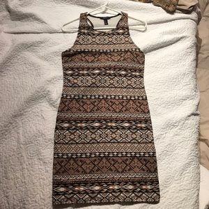 Tribal print body con dress