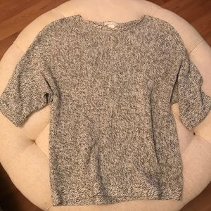 H&M 3/4 length purl-knit sweater, Small