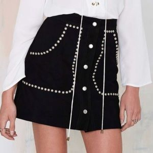 Nwt nasty gal suede (real) skirt