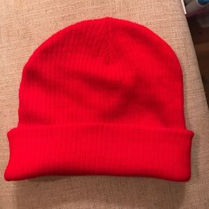 Bright red hat