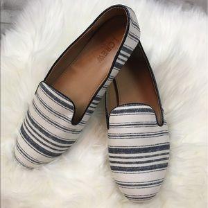 J. Crew Factory Addie Multi-Stripe Canvas Loafers