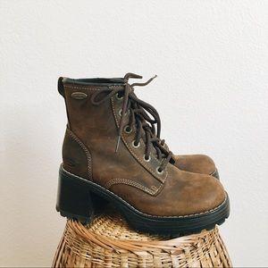 Vintage Skechers Leather Platform Boots