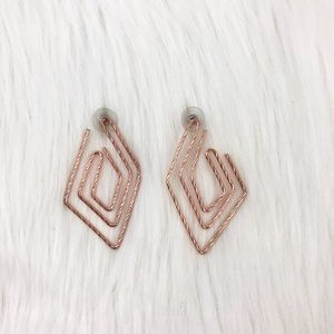 Jewelry - Copper/rose gold square earrings