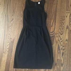 EUC Old Navy black shift dress size XS with zipper