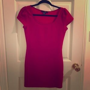 Red t-shirt bodycon dress