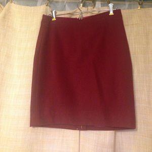 NWT Burgundy Wool Pencil Skirt