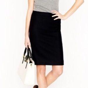 Black J. Crew wool pencil skirt
