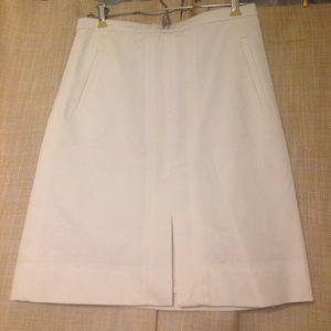 NWT J. Crew White Pencil Skirt