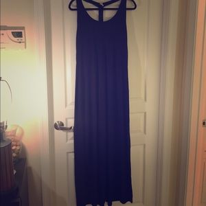 Old Navy T-Back Blue Maxi Dress