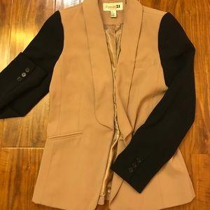 Nude and black blazer