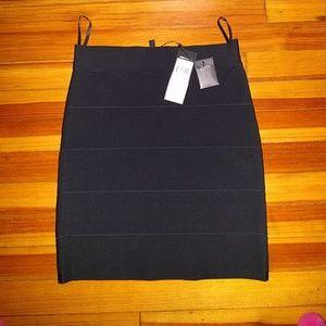 NWT BCBG Simone Bandage Skirt, Black