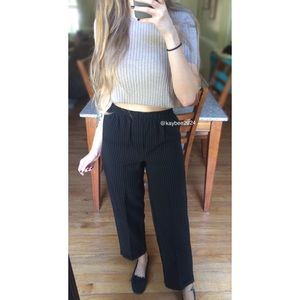 Vtg 90's Petite High Waisted Pinstripe Trousers 🍂