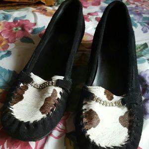Women Dr Scholls Cowhide Small Heel Shoes Sz 7.5m