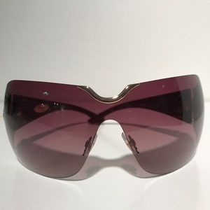 Chopard Wraparound Sunglasses with Crystals