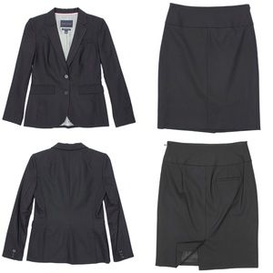Suit UP! Skirt & Blazer Stretched Wool Career 610
