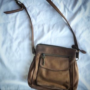 Fossil brown leather purse.  Brown leather