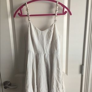 Creme Sundress with Floral Straps