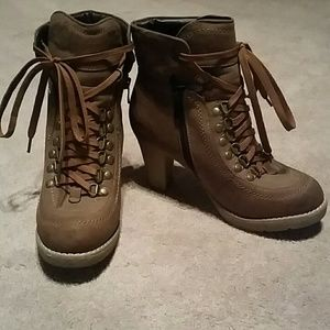 Heeled Lace Up Booties