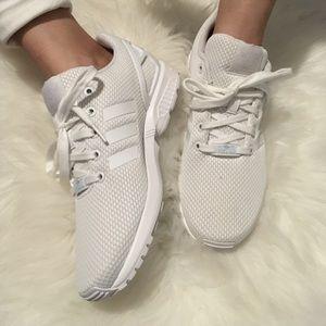 Adidas 6.5 White on White Torsion Sneakers