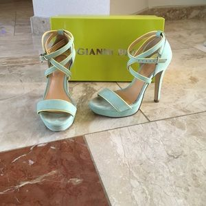 Gianni bini mint teal shoes