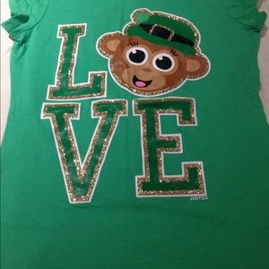 Justice lucky 🍀 shirt for girls