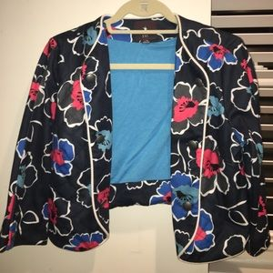 Cotton floral blazer